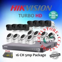 PAKET CCTV 16 CHANNEL HIKVISION 5MP 2TB PAKET 16 CHANNEL HIKVISION 5MP
