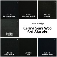Kain Celana Semi Wool Seri Abu-Abu