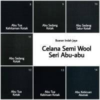 Kain Celana Semi Wool Abu-Abu