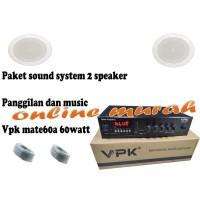 paket sound system panggilan dan musik vpk mate60a 60watt dan 2 toa