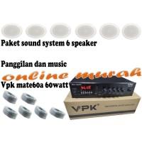 paket sound system panggilan dan musik vpk mate60a 60watt dan 6 toa