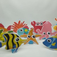 center piece under the sea / paper doll under the sea