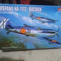 pesawat hispano ha-1112 buchon 1/48 academy model kit