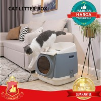 Cat Litter Box Premium / Tempat Bak Pasir Gumpal Kucing