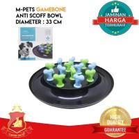 Tempat Makan Anjing Kucing Hewan Interactive - Anti Scoff Round Bowl
