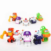 Second Edition Figure Superwings isi 5 pcs / Topper Kue Super wings
