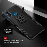 Calandiva Samsung Galaxy M30s Hard Case Casing Ring Thunder Hybrid