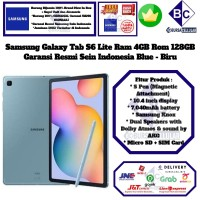 Samsung Galaxy Tab S6 Lite 4GB/128GB S 6 Lite 4/128 GB Resmi-Blue