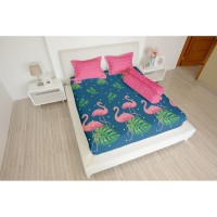 Jual sprei lady rose flamingo ukuran 180x200, 160x200 Limited
