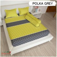 Dijual GROSIR SPREI LADY ROSE POLKA GREY UKURAN 180X200, 160x200 Mura