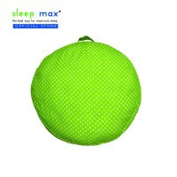 Sleep Max Floor Cushion/Bantal Lantai/Bantal Bulat 57x57 Cm-Dot Hijau