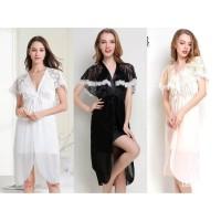 Baju Tidur/Piyama Bahan Brokat Halus - Lingerier Sexy Wanita Termurah