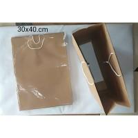 Paper Bag Polos Coklat 30cm x 40cm ( 1 Lsn 12bh )
