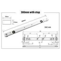 Track Slider T-tracks Slot Miter Slider Bar Woodworking with Retaining