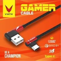 VYATTA GAMER KABEL DATA TYPE C USB - FAST CHARGE - GARANSI 12 BULAN