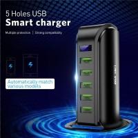 charger USB HP universal smart charging dock 5 port-casan multi port