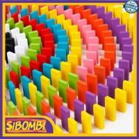 Mainan Edukasi Ketangkasan Anak Balok Domino 120 Pcs