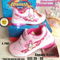 Sepatu Anak Perempuan Lampu Nyala Led Kado Sneakers Import