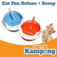 Bak Pasir Medium + Serokan & Tutup Cat Pan Deluxe M + Scoop & Cover