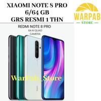 HP XIAOMI REDMI NOTE 8 PRO 6/64 GB - XIOMI MI NOT 8 PRO GARANSI RESMI