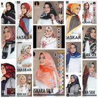 Hijab Kerudung Jilbab Segi Empat Silk Motif AZARA Impor