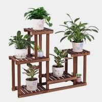 rak kayu/rak tanaman kayu/rak kaktus cantik/rak tanaman unik