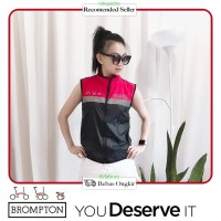 Rompi / vest Brompton Special Edition Unisex -Black on Red-