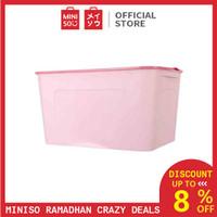 MINISO Kotak Penyimpanan Storage Box Baju Multifungsi Ukuran Besar - Merah Muda