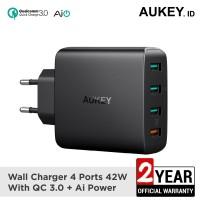 Aukey Charger 4 Ports 18W QC 3.0 & AiQ - 500225