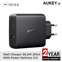 Aukey Charger 2 Ports 56.5W USB C PD 3.0 - 500209