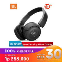 JBL by Harman Headphone Bluetooth T450BT Blue - Hitam