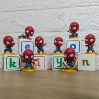 Spiderman - 8 pcs - Chibi - isi 8 - Action Figure - Figur - Mainan