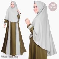 Termurah Gamis Syari SAFA DRESS PLUS JILBAB Pakaian Wanita Set