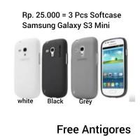 SALE!! 3Pcs Capdase Softcase Samsung Galaxy S3 Mini (Free Antigores)