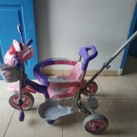 Sepeda Anak Roda 3 Family Lampu Patroli Musik Hidup