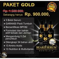 MONTCLAIR BEARD SERUM / SERUM PENUMBUH BREWOK PAKET GOLD