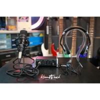 Paket Recording Tascam us1x2 Tm80 With Headphone Numark hf 125