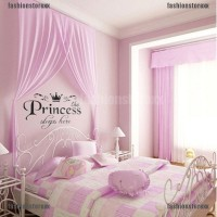 Stiker Dinding Vinyl Motif Tun untuk Kamar Bayi / Anak Perempuan