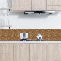 6Pcs Stiker Keramik PVC Motif Marmer untuk Dekorasi Dapur / Kamar