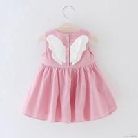 Baby Dress Princess Bayi / Anak Perempuan Lucu Lengan Batwing Warna
