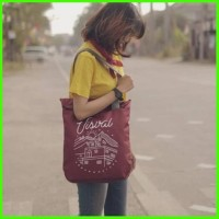 Tote Bag Visval Shrivel Tas Selempang Slempang Bahu Kuliah Sekolah Pri