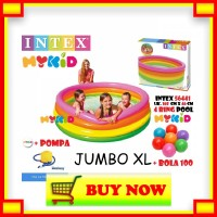 UM124 Kolam Renang Anak Sunset Glow 4 Ring Rainbow Pool Intex 56441 16