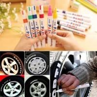 Pen Paint Marker Permanen Tahan Air 12Warna Metal untuk Karet Ban