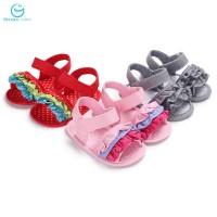 Bayi Perempuan Sepatu Sandal Prewalker Aksen Ruffle Motif Polkadot