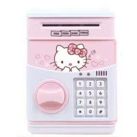 Auto Electric Lock ATM Bank Money Minion Kitty Saving Coin Toy Box