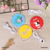NB USB Warmer Cartoon Silicone Cup-Pad Coffee Tea Drink usb Heater TG