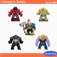 The Avengers Mainan Balok Bangun Susun Model Lego Seri Hulk Merah D TG