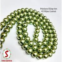 Mutiara kilap 6m hijau lumut/hijau 42/batu kilap hijau /bahan ACC