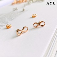 AYU Infinity Gold Studs 17K Rose Gold