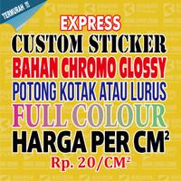 Custom Stiker, Custom Sticker, Stiker, Sticker, Bahan Chromo perCM2 01